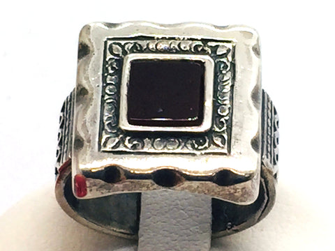Shablool DIDAE made in  Israel Solid 925 Sterling Silver Ring With Carnelian Agate Stone
