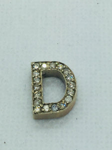 14k Solid Gold Diamond D Pendant