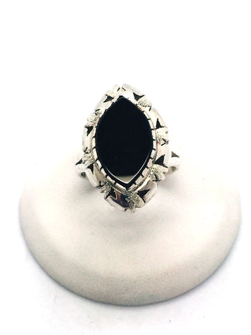 Solid Sterling Silver Black Onyx Ring