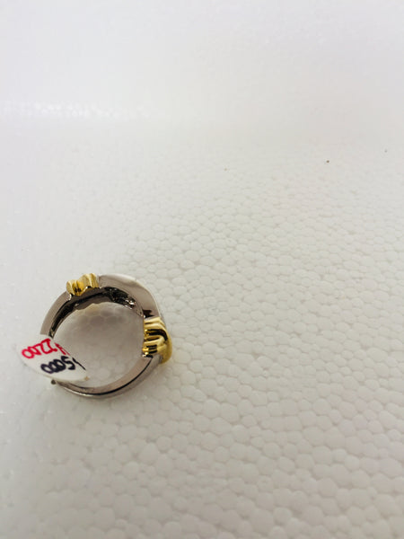 14k Solid Two Tone Gold Diamond Ring