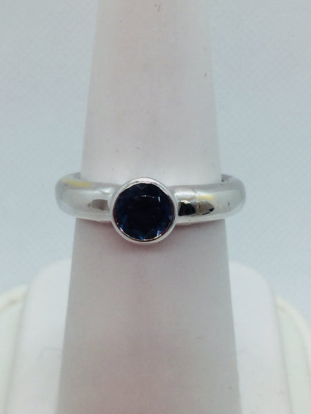 14k Solid White Gold Genuine Tanzanite Ring