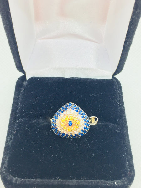 14k Solid Gold Genuine Cubic Zirconia Ring