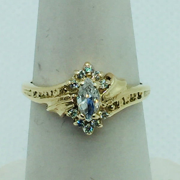 10k Solid Gold Cubic Zirconia Ring