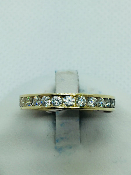 14k Solid Gold Cubic Zirconia Ring