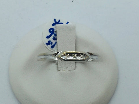 Vintage 10k Solid White Gold Wedding Band Ring