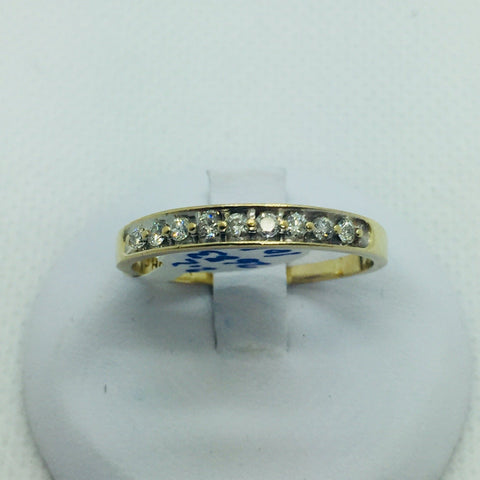 10k Solid Gold Diamond Band Ring
