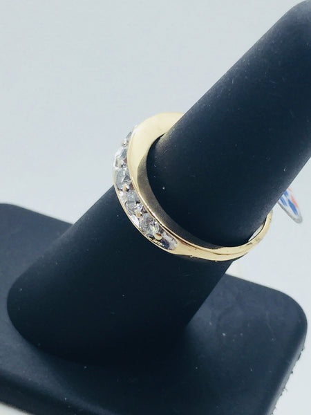 Vintage 14k Solid Gold Diamond Band Ring