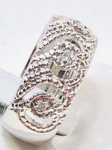 Sterling Silver Cubic Zirconia Ladies Band ring Size 7