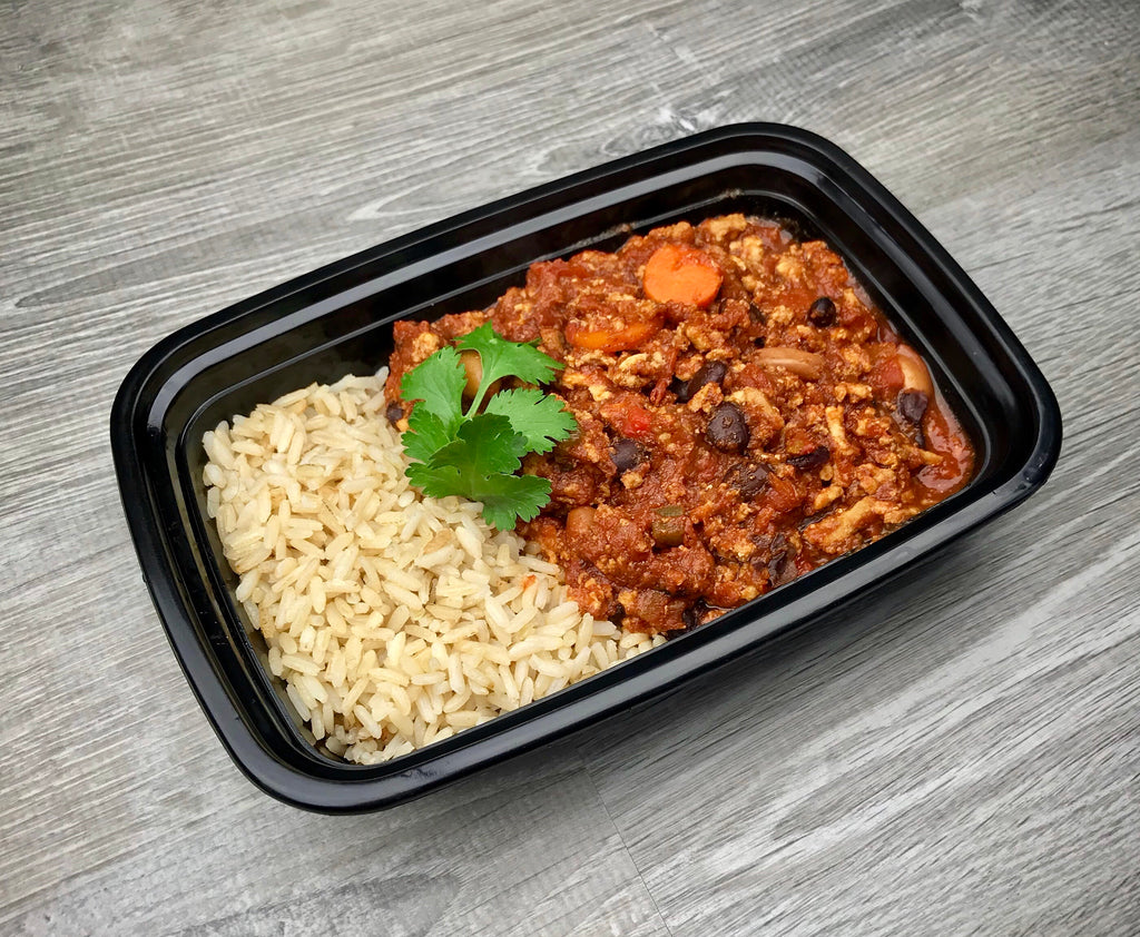 Turkey Chili with Brown Rice