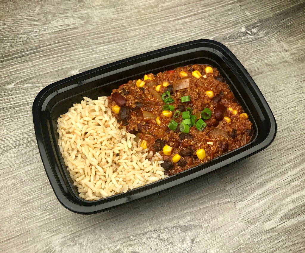 Quinoa Chili with Brown Rice