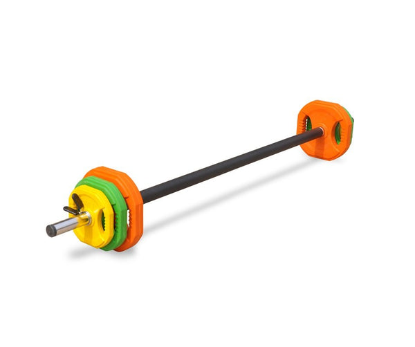 20kg Studio Pump Weights & Barbell Rep Set Aerobic Body Strength ...