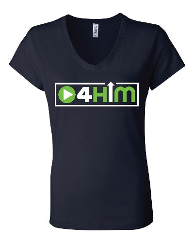 Adult V-Neck (Women's Cut) Blue and Green Shirts (sizes run small so order one size larger)