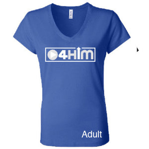 Adult V-Neck (Women's Cut) True Blue Shirts (Sizes run small so order one size larger)