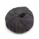 Deep Blue Smoke Silky Alpaca Lace