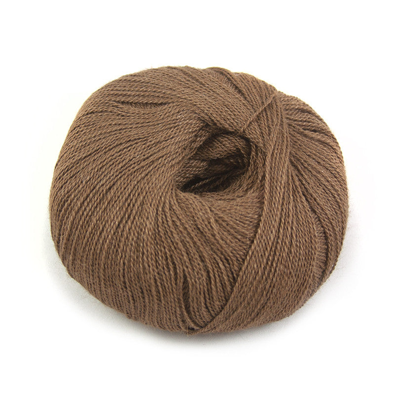 Golden Brown Silky Alpaca Lace