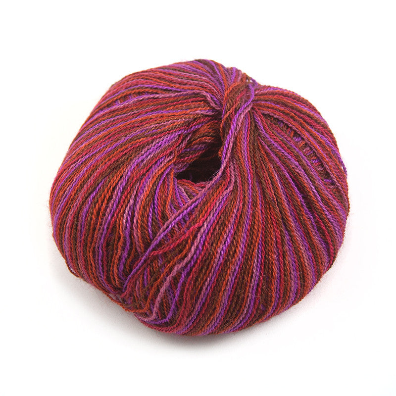 Ruby Brocade Silky Alpaca Lace