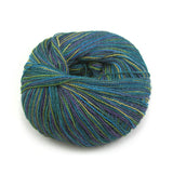 Teal Collage Silky Alpaca Lace
