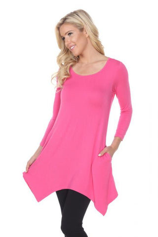Solid Color Tunics with Pockets (Size Small-3X)
