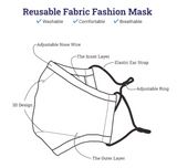 Adjustable Ear Strap Face Masks