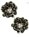 Leopard Flower Earrings