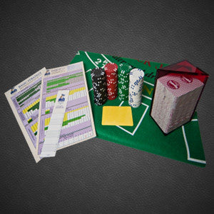 Card counting training kit basic strategy chart chips green felt plus boot camp discount offer