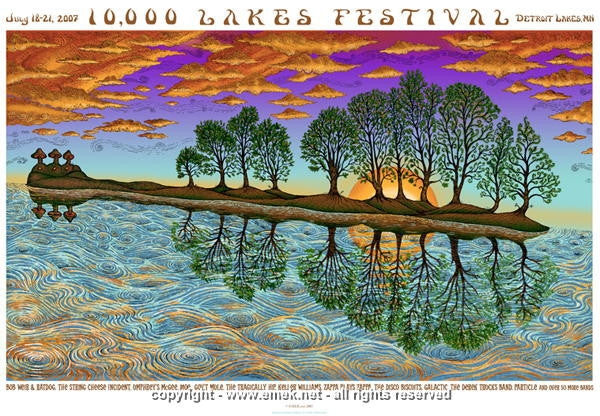 2007 10,000 Lakes Festival - Dove Edition Concert Poster by Emek