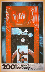 "2011 ""2001 A Space Odyssey"" - Silver Variant Poster by Tim Doyle"
