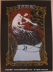 2007 Dresden Dolls Winter Tour Silkscreen Poster by Malleus