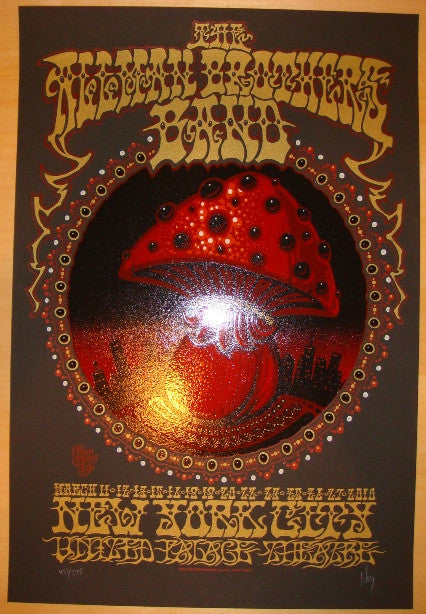 2010 Allman Brothers Band - NYC Concert Poster by Jeff Wood