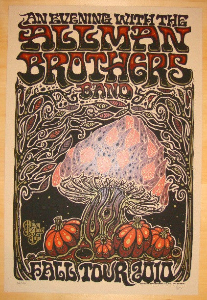 2010 Allman Brothers - Fall Tour Concert Poster by Jeff Wood
