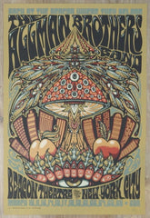 2011 Allman Brothers Band - NYC Silkscreen Concert Poster by Jeff Wood