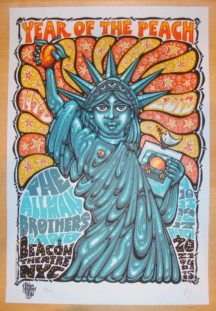 2012 Allman Brothers Band - NYC Concert Poster by Jeff Wood