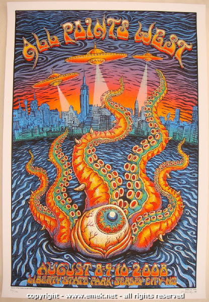 2008 All Points West - Silkscreen Concert Poster by Emek