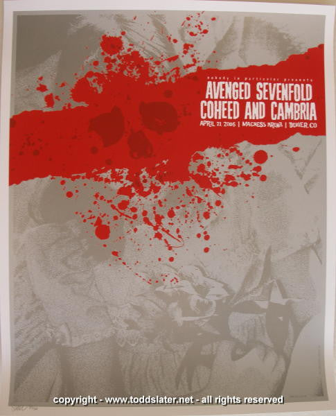 2006 Coheed & Cambria w/ Avenged Sevenfold - Denver Concert Poster by Todd Slater