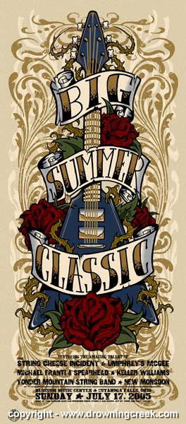 2005 Big Summer Classic Silkscreen Concert Poster - Wood/Lakesh