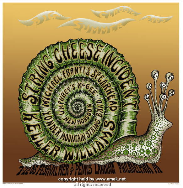 2005 Big Summer Classic - Philadelphia Concert Poster by Emek