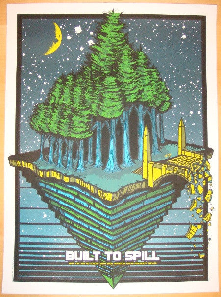 2009 Built to Spill - Silkscreen Concert Poster by Brad Klausen