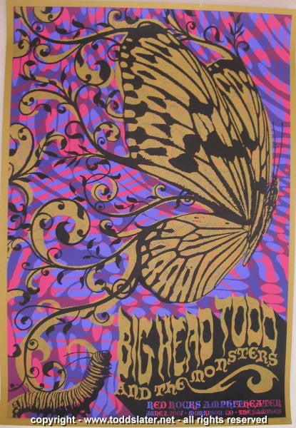 2007 Big Head Todd - Red Rocks Silkscreen Concert Poster by Todd Slater