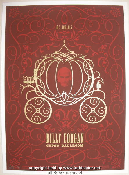 2005 Billy Corgan Silkscreen Concert Poster by Todd Slater