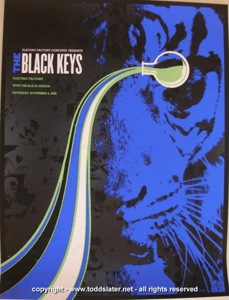 2006 The Black Keys - Silkscreen Concert Poster by Todd Slater