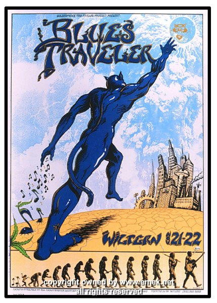 1995 Blues Traveler Silkscreen Concert Poster by Emek