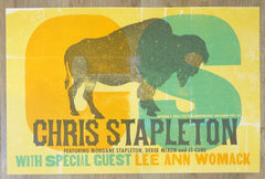 2016 Chris Stapleton - Oklahoma City Letterpress Concert Poster by Brad Vetter