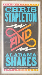 2016 Chris Stapleton & Alabama Shakes - Milwaukee Concert Poster by Brad Vetter