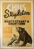 2017 Chris Stapleton - Little Rock Letterpress Concert Poster by Camp Nevernice