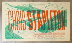 2017 Chris Stapleton - Tampa Silkscreen Concert Poster by Andy Vastagh