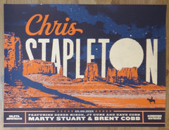 2018 Chris Stapleton - Albuquerque Silkscreen Concert Poster by Jose Garcia