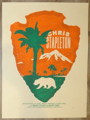 2018 Chris Stapleton - Chula Vista Silkscreen Concert Poster by Andy Vastagh