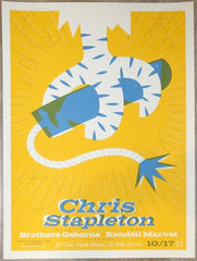2019 Chris Stapleton - Charleston Silkscreen Concert Poster by Sorry Design