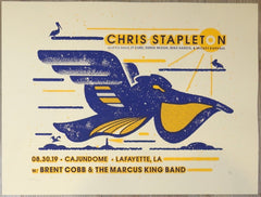 2019 Chris Stapleton - Lafayette Silkscreen Concert Poster by Andy Vastagh