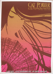 2006 Cat Power Silkscreen Concert Poster by Todd Slater